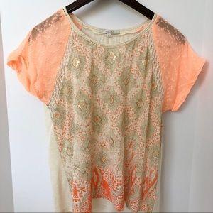 Miss Me Crochet Pullover Blouse • Sz M